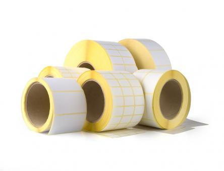 Étiquettes thermiques vierges 60x62x40, 24 rouleaux